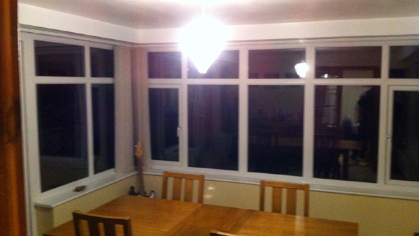 Inside roof fitted conservatory